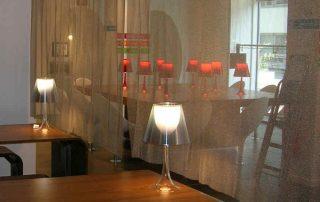 Gardinen aus Edelstahl und Alu sind ideal einsetzbar fü eine transparente Raumaufteilung CAMPO 1