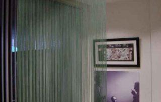 Fransenvorhang, Raumteiler im Büro