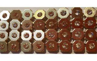 Metallvorhangstoff mit Steinen