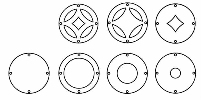 Metallvorhang Kreise Details