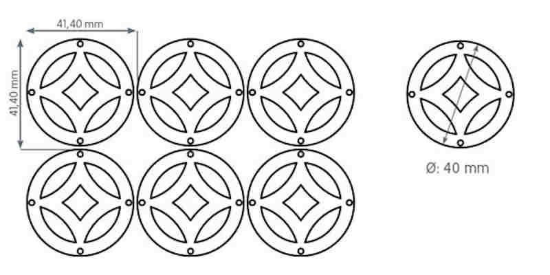 Metallvorhang Kreise Plättchen