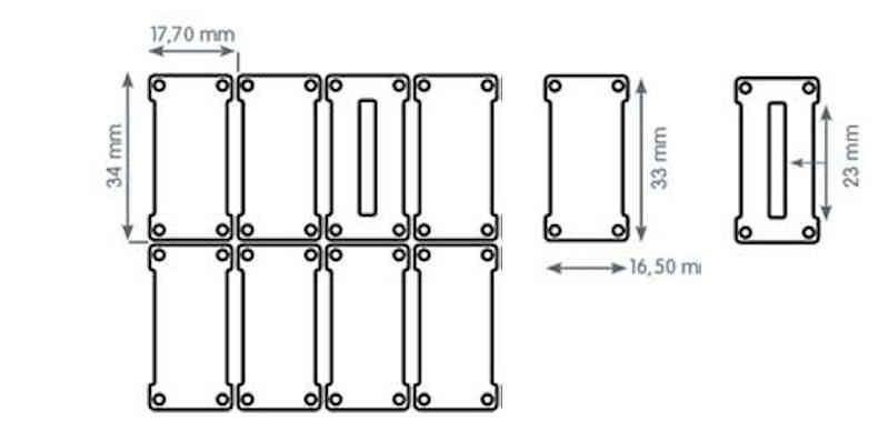 Metallvorhang Rechtecke Plättchen S