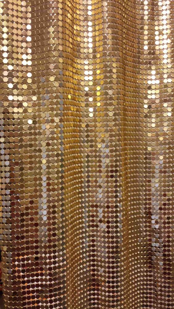 Metallvorhang Gold