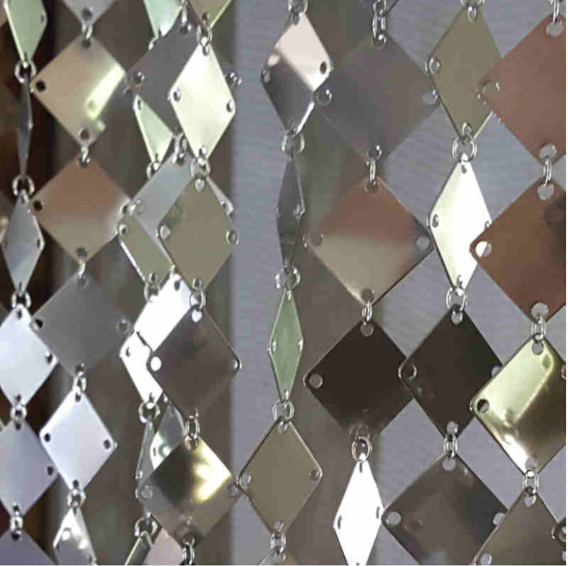 Metallvorhang Quadrate