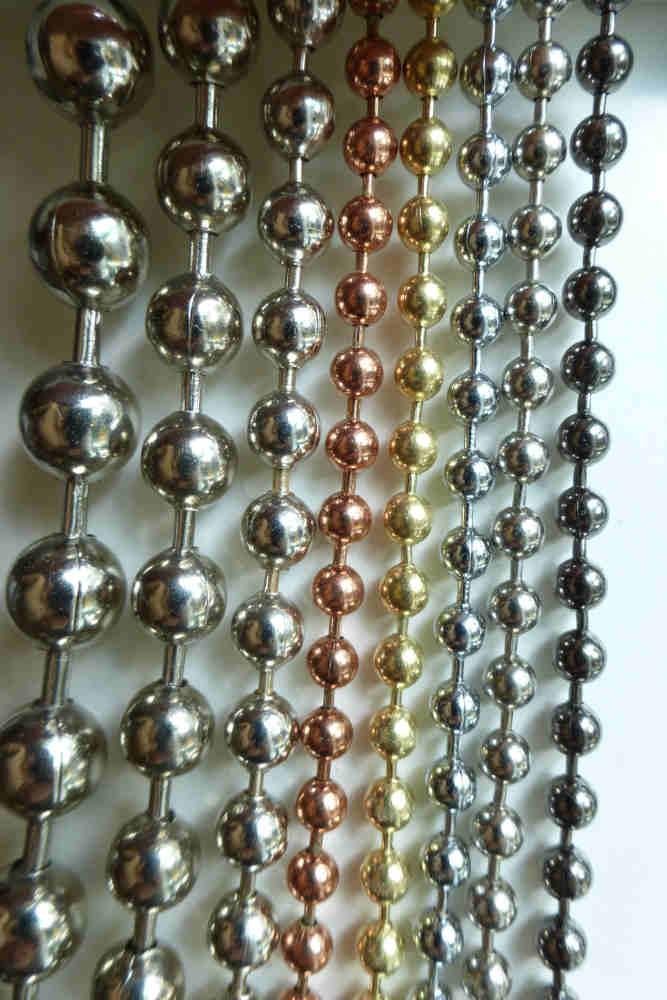 Perlenvorhang Farben und Größen