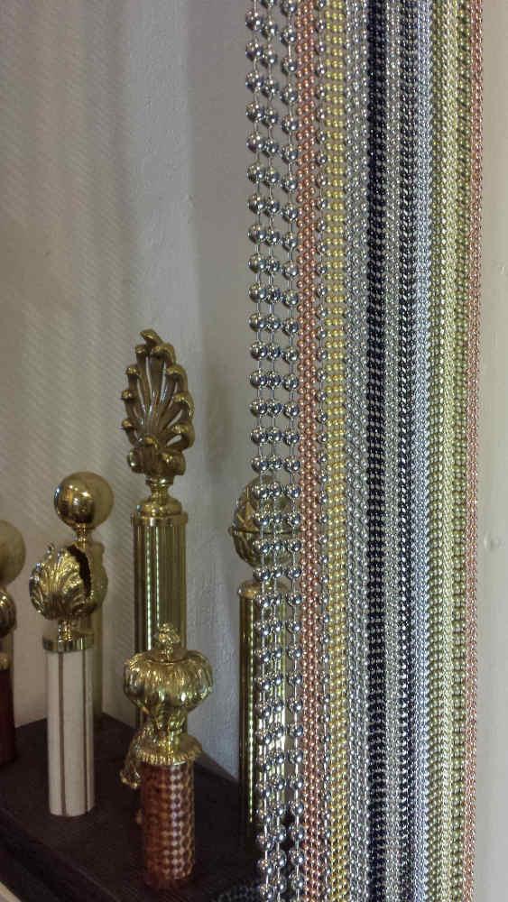 Perlenvorhang mit Varia Vorhangstangen