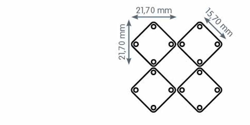 Metallvorhang Quadrate Plättchen S