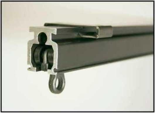 Vorhangschienensystem für leichte und mittelschwere Vorhänge