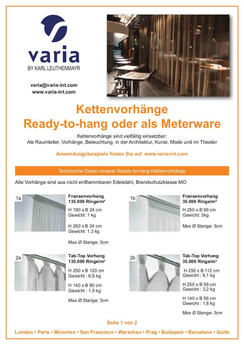 Kettenvorhang Flyer Seite 1