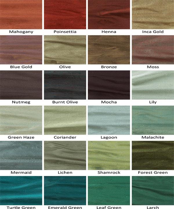 Seidentapeten-Farben