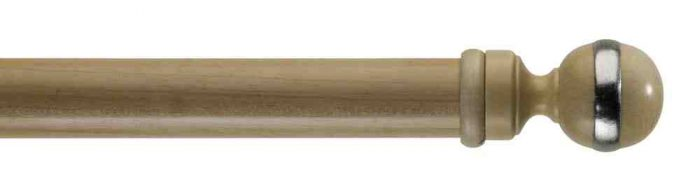 Gardinenstange von Byron & Byron - Globe Pale Ash