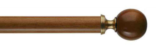 Gardinenstange von Byron & Byron - Modern Ball Cherrywood