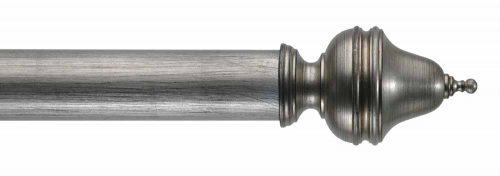 Gardinenstange von Byron & Byron - Clandon Black Distressed Silver