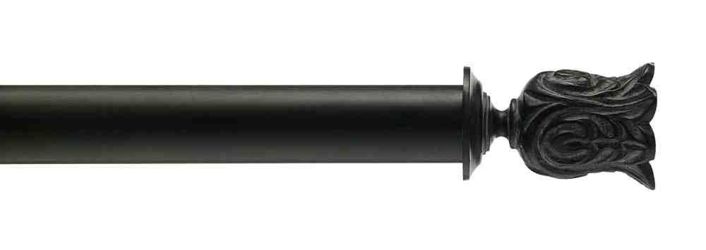 Gardinenstange von Byron & Byron - Siena Antiqued Black