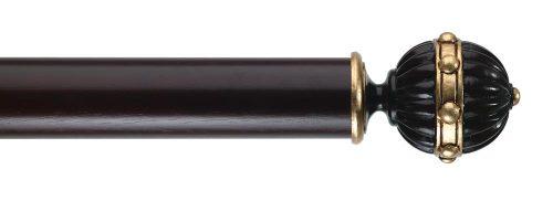 Gardinenstange von Byron & Byron - Hampton Matt Black & Details