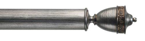 Gardinenstange von Byron & Byron - Naxos Black Distressed Silver