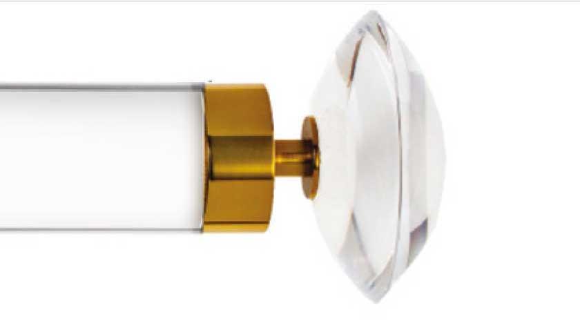 Orbit burnished brass