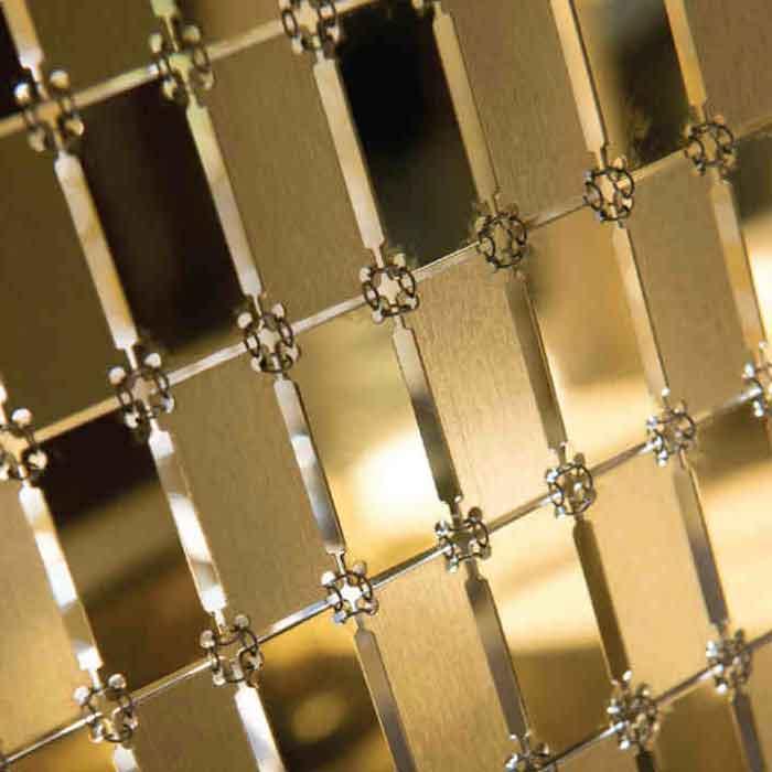 Metallvorhang Rechtecke