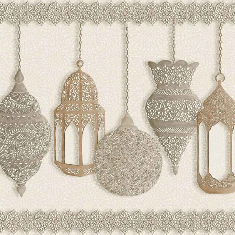 Cole and Son Tapete mit Orientalischen Lampen