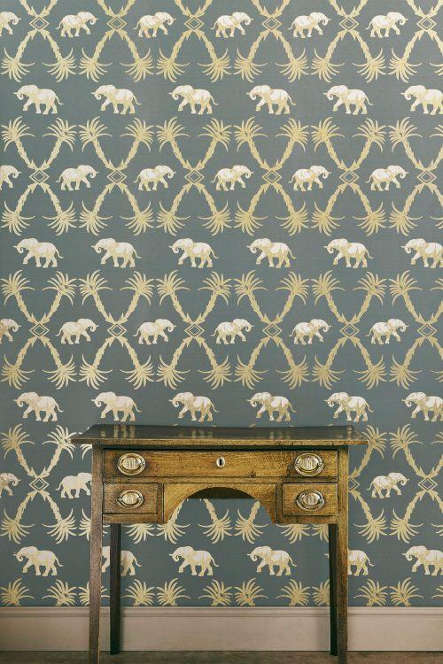 Elefanten und Palmen Tapete Barneby Gates