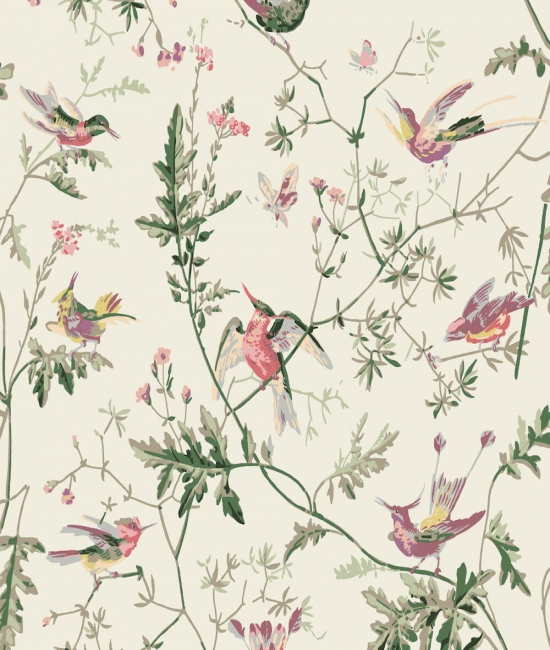 Cole and Son Stoffe - Hummingbirds Silk