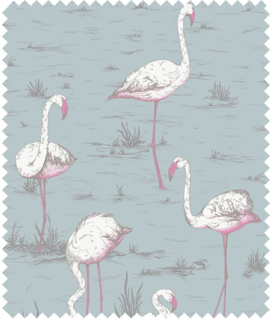Cole and Son Stoffe - Flamingos Linen Union