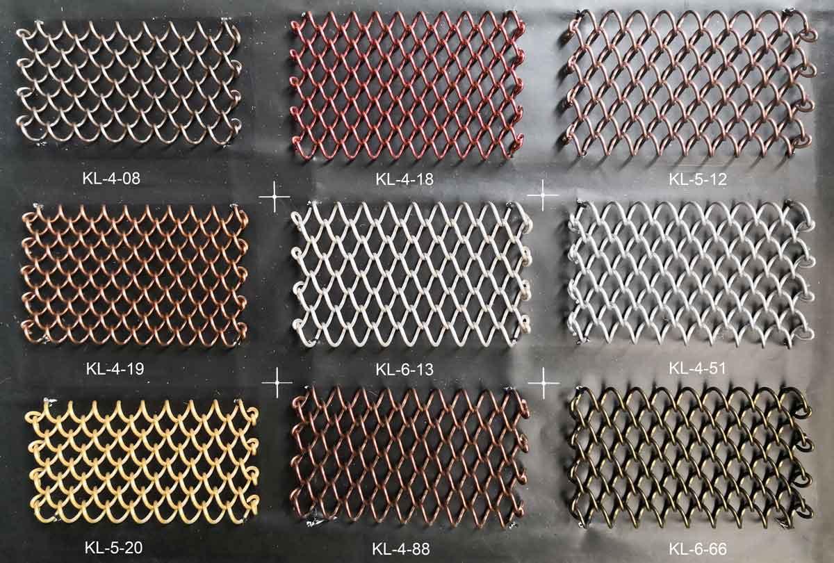 Farbpalette 1 - Metallgeflechte