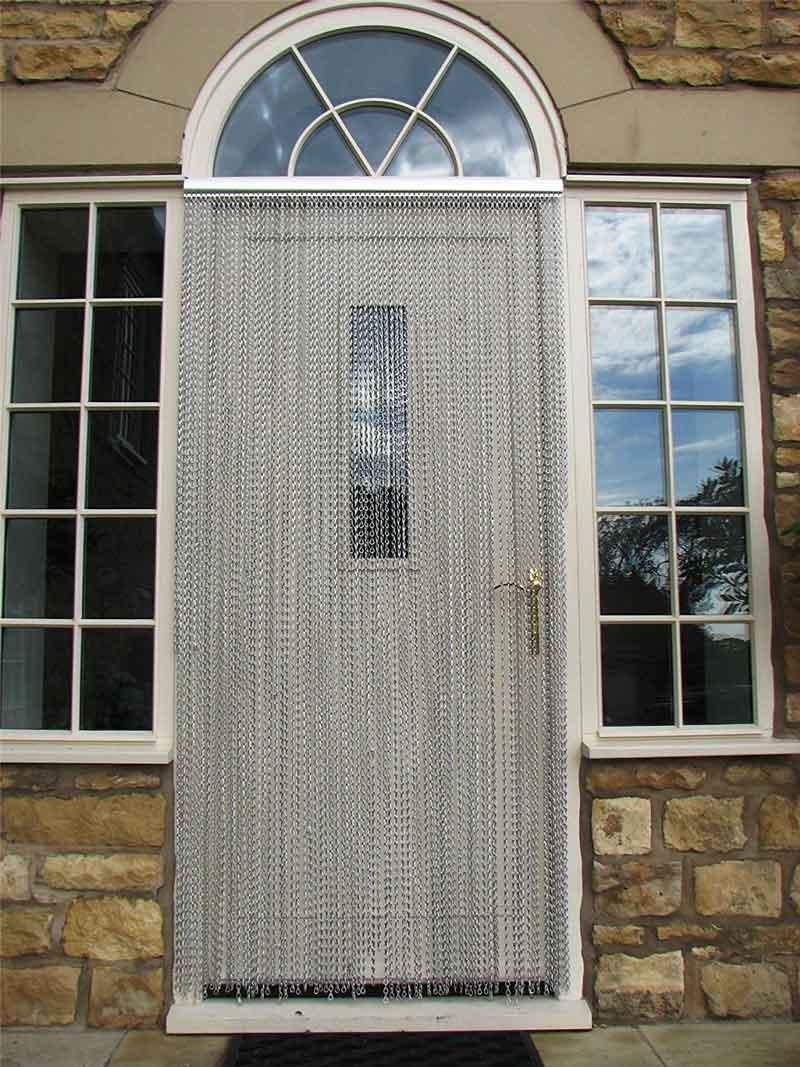 Fliegenvorhang Aluminium Tür