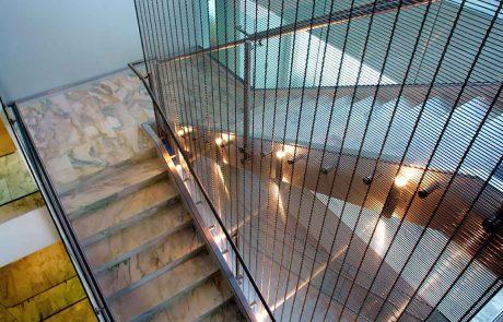 Metallgitter Treppenhaus