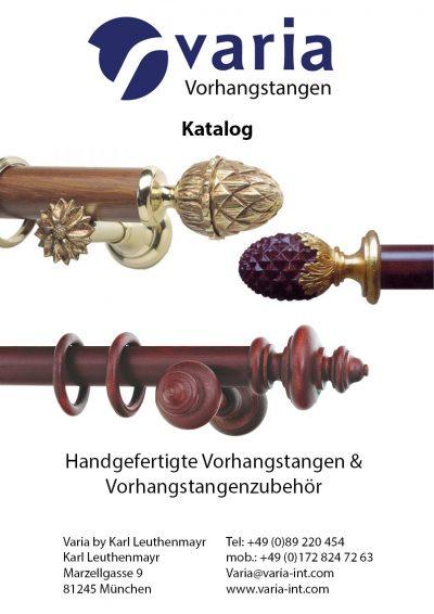 Varia Vorhangstangen Katalog Titelseite