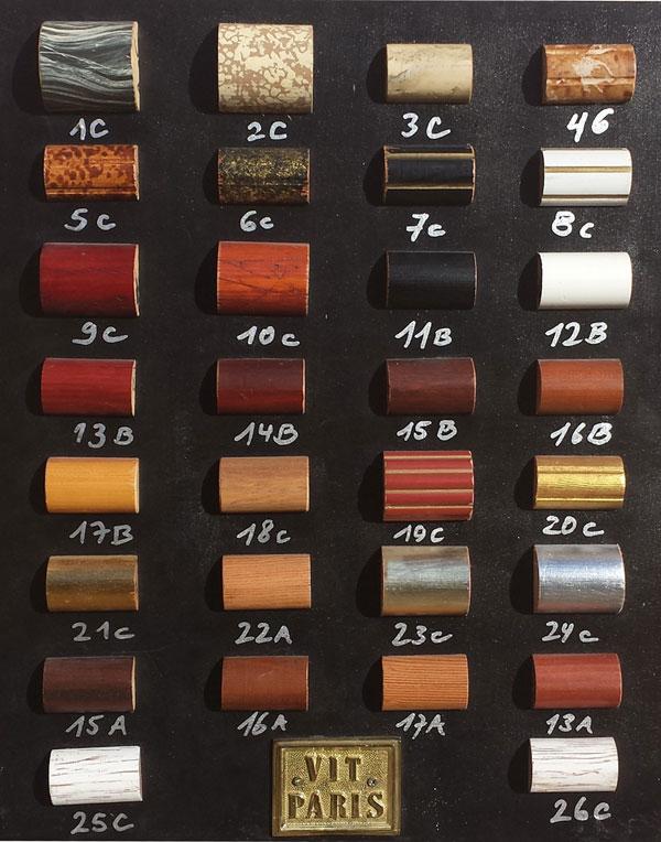 Farbpalette mit Holzfarben